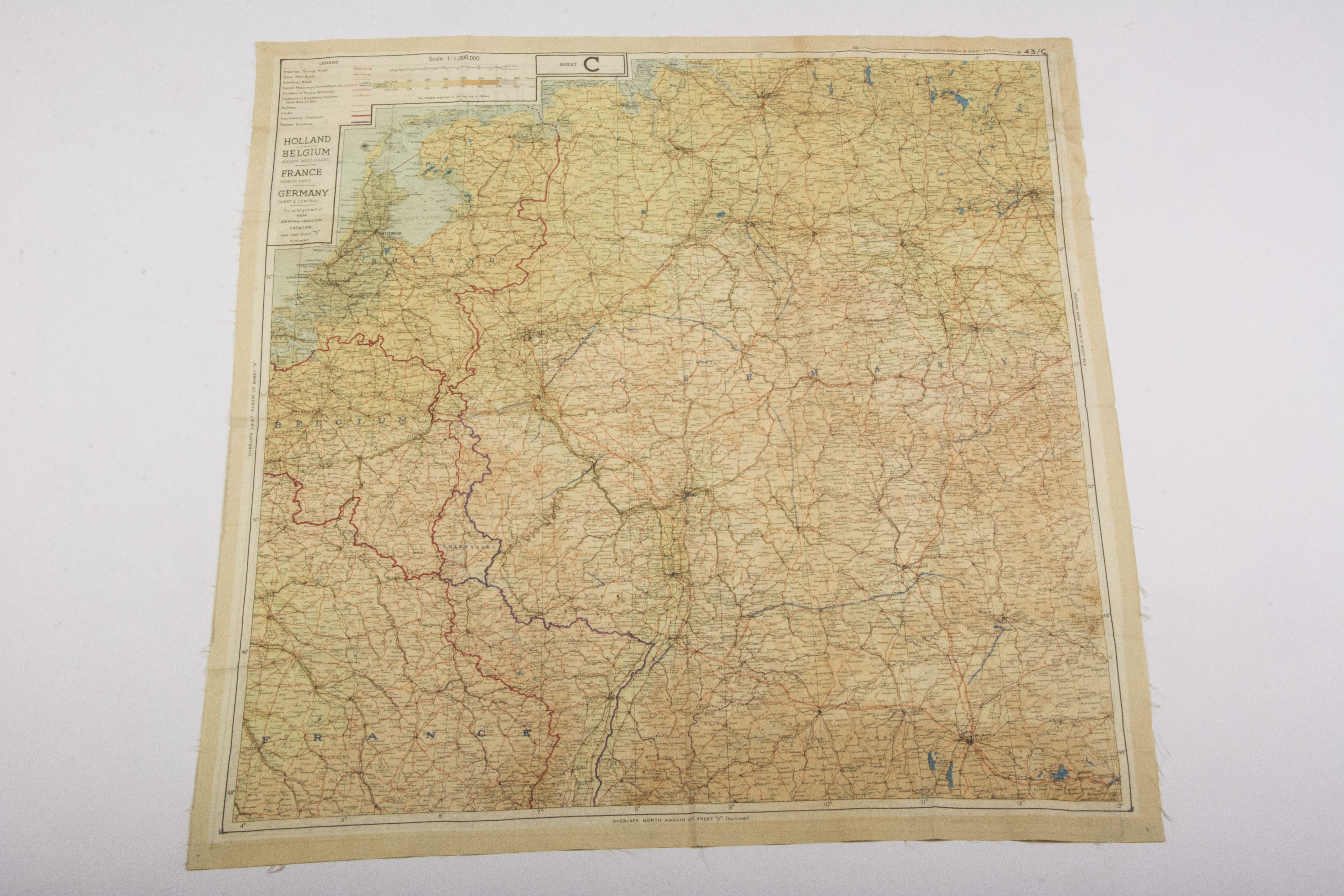 Map Of Germany Coast.Silk Escape Map Holland Belgium France Germany Fjm44