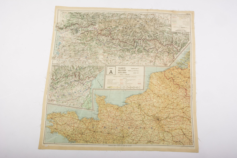 Map Of France And Holland Belgium.Silk Escape Map France Normandy Belgium Holland Fjm44